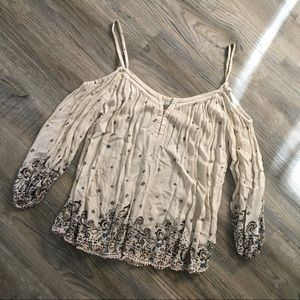 Boho urban outfitters off the shoulder strap top